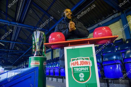 Matt Murray during the Papa Johns Trophy draw for the round of 32 fixtures.