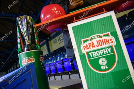 Matt Murray draws the balls for the round of 32 of the Papa John's Trophy.