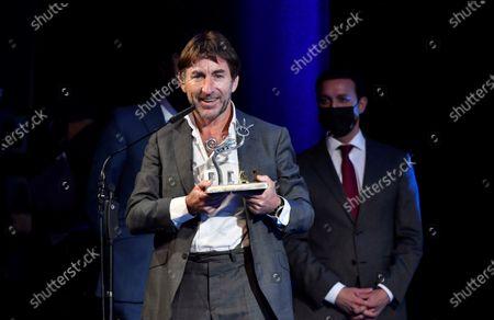 Antonio de la Torre receives the 'Almeria Tierra de Cine' award at Almeria's International Film Festival, in Almeria, Spain, 19 November 2020.