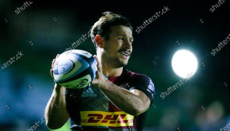 Stock Photo of Danny Care of Harlequins and movember moustache