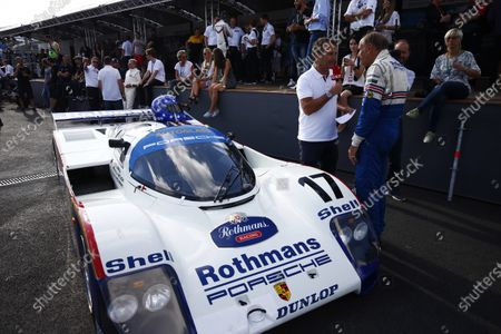 Red Bull Ring, Spielberg, Austria. Saturday 08 July 2017. Legendary racer Hans-Joachim Stuck at the Legends Parade alongside his Porsche 962. World Copyright: Andy Hone/LAT Images