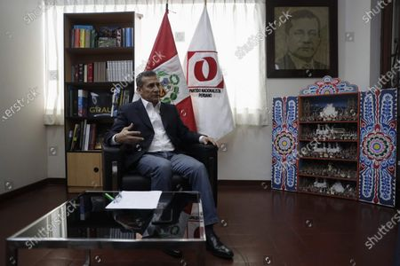 The former president of Peru, Ollanta Humala, speaks during an interview with Efe on 18 November 2020, in Lima, Peru . Former Peruvian President Ollanta Humala (2011-2016) has no doubts that what happened in the last week in Peru was 'a coup d'etat' at the hands of a group of parties that tried to 'take over the executive power by storm'  by removing controversial way to former president Martin Vizcarra (2018-2020).