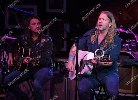 Stock Image of Duane Betts and Devon Allman of The Allman Betts Band