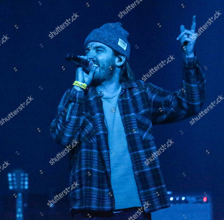 Stock Image of Brandon Lancaster of LANCO performs onstage