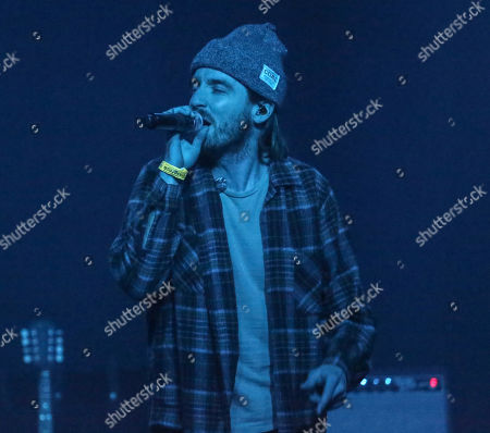 Stock Picture of Brandon Lancaster of LANCO performs onstage