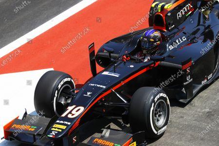 Stock Image of Baku City Circuit, Baku, Azerbaijan. Sunday 25 June 2017 Johnny Cecotto Jr. (VEN, Rapax)  Photo: Steven Tee/FIA Formula 2