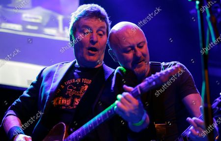 Richard Holgarth (L) and Chris Taylor of Eddie and the Hot Rods