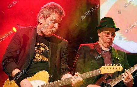 Richard Holgarth of Eddie and the Hot Rods (L) and special guest Leigh Heggarty of Ruts
