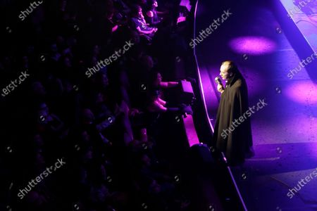 """Dave Vanian performs on stage during """"The Damned: A Night Of A Thousand Vampires"""" at The Palladium"""