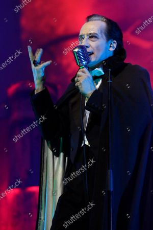"""Stock Photo of Dave Vanian performs on stage during """"The Damned: A Night Of A Thousand Vampires"""" at The Palladium"""