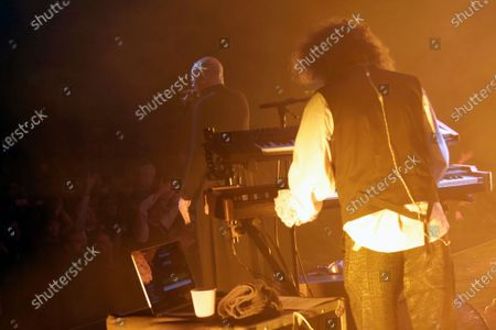 """Dave Vanian and Monty Oxymoron perform on stage during """"The Damned: A Night Of A Thousand Vampires"""" at The Palladium"""