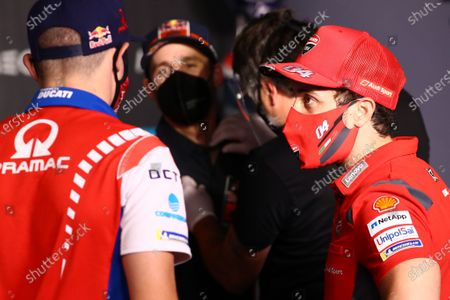 ALGARVE INTERNATIONAL CIRCUIT, PORTUGAL - NOVEMBER 19: Andrea Dovizioso, Ducati Team during the Portuguese GP at Algarve International Circuit on November 19, 2020 in Algarve International Circuit, Portugal. (Photo by Gold and Goose / LAT Images)