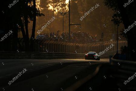 Stock Image of 2017 Le Mans 24 Hours Circuit de la Sarthe, Le Mans, France. Sunday 18th  June 2017 #93 Proton Competition Porsche 911 RSR (991): Patrick Long, Abdulaziz Turki Al Faisal, Michael Hedlund  World Copyright: JEP/LAT Images