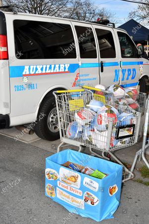 Editorial photo of NYPD 113th Precinct Turkey Giveaway, New York, USA - 19 Nov 2020