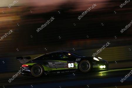 2017 Le Mans 24 Hours Circuit de la Sarthe, Le Mans, France. Thursday 15 June 2017 #93 Proton Competition Porsche 911 RSR (991): Patrick Long, Abdulaziz Turki Al Faisal, Michael Hedlund  World Copyright: JEP/LAT Images