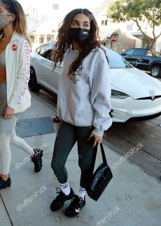Chantel Jeffries making her way into Dogpound Gym in West Hollywood