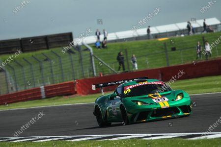 2017 British GT Championship, Silverstone, 11th-12th June 2017, Stuart Hall / Gavan Kershaw Stratton Motorsport Lotus Evora. World copyright. JEP/LAT Images