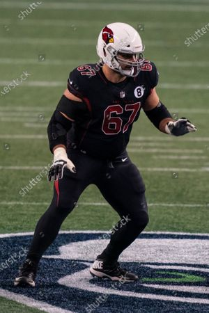 Arizona Cardinals offensive lineman Justin Pugh is pictured during the second half an NFL football game against the Seattle Seahawks, in Seattle. The Seahawks won 28-21