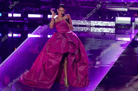 Natalia Jimenez performs during a living legends tribute to Julio Iglesias at the 21st Latin Grammy Awards, airing, at American Airlines Arena in Miami
