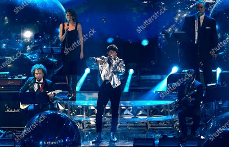 Sebastian Yatra performs at the 21st Latin Grammy Awards, airing, at American Airlines Arena in Miami