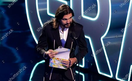 Juanes speaks at the 21st Latin Grammy Awards, airing, at American Airlines Arena in Miami