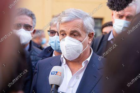 Stock Photo of Antonio Tajani, MEP and vice president of Forza Italia