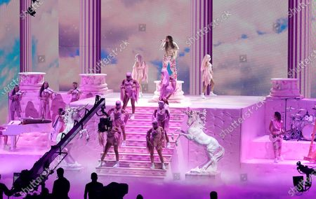 Karol G performs for the 21st Latin Grammy Awards, airing, at American Airlines Arena in Miami