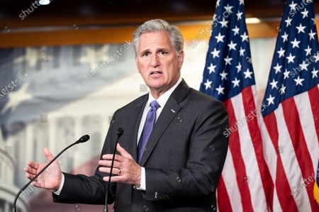 Stock Image of House Minority Leader Kevin McCarthy (R-CA) speaks at his press conference.