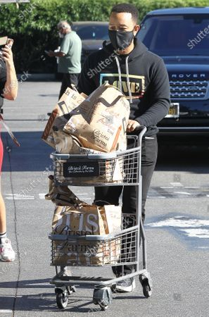 John Legend getting groceries in Beverly Hills