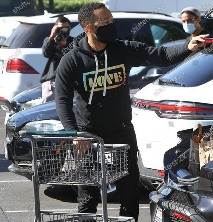 Stock Photo of John Legend getting groceries in Beverly Hills
