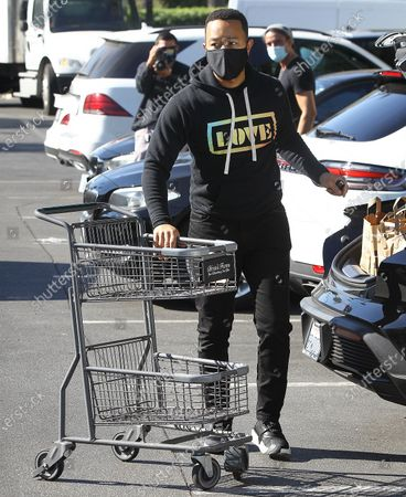 Stock Picture of John Legend getting groceries in Beverly Hills