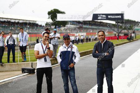 Williams 40 Event Silverstone, Northants, UK Friday 2 June 2017. Antonio Pizzonia, Felipe Massa and Pastor Maldonado. World Copyright: Sam Bloxham/LAT Images