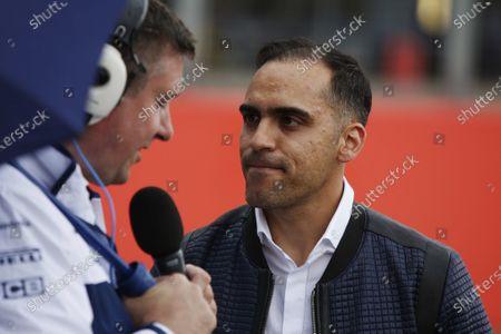 Williams 40 Event Silverstone, Northants, UK Friday 2 June 2017. David Croft and Pastor Maldonado. World Copyright: Joe Portlock/LAT Images