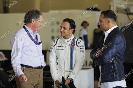Williams 40 Event Silverstone, Northants, UK Friday 2 June 2017. Frank Dernie, Felipe Massa, Williams Martini Racing, and Pastor Maldonado. World Copyright: Zak Mauger/LAT Images