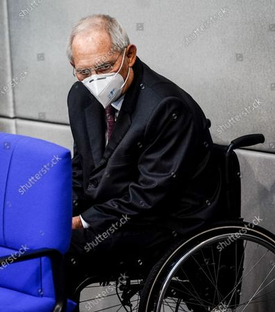 President of the German Parliament Bundestag Wolfgang Schaeuble during a session of the German parliament Bundestag in Berlin, Germany, 20 November 2020. Members of Bundestag debate on attacks by guests of AfD members surrounding Wednesday's Infection Protection Act vote.
