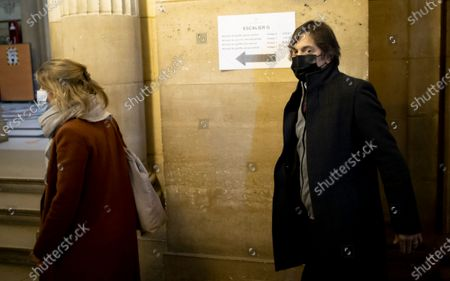 Passenger who was wounded in the 2015 Thalys train attack, Mark Moogalian (R) and his wife Isabelle (L), arrive for the fifth day of the Thalys attack trial, in Paris, France, 20 November 2020. On 21 August 2015, gunman Ayoub El-Khazzani opened fire with an assault rifle, shot and wounded three people on a Thalys train travelling between Amsterdam and Paris before the assailant was overpowered by passengers.The incident happened near Arras in northern France shortly after 1600 GMT and the gunman was arrested when the train stopped at the town's station.