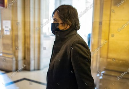 Passenger who was wounded in the 2015 Thalys train attack, Mark Moogalian arrive for the fifth day of the Thalys attack trial, in Paris, France, 20 November 2020. On 21 August 2015, gunman Ayoub El-Khazzani opened fire with an assault rifle, shot and wounded three people on a Thalys train travelling between Amsterdam and Paris before the assailant was overpowered by passengers.The incident happened near Arras in northern France shortly after 1600 GMT and the gunman was arrested when the train stopped at the town's station.