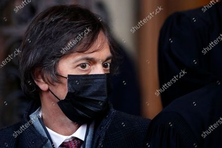 Stock Picture of Mark Moogalian arrives to deliver a speech at the end of his hearing during the Thalys attack trial at the Paris courthouse, . Passengers who wrestled and disarmed an Islamic State gunman aboard a high-speed Amsterdam to Paris train are recounting how their split-second decisions helped prevent what could have become a mass slaughter