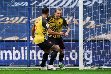 Stock Picture of Ben Wilmot of Watford celebrates scoring the opening goal with William Troost-Ekong of Watford