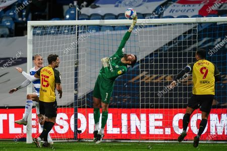 Ben Foster of Watford makes a save at full stretch