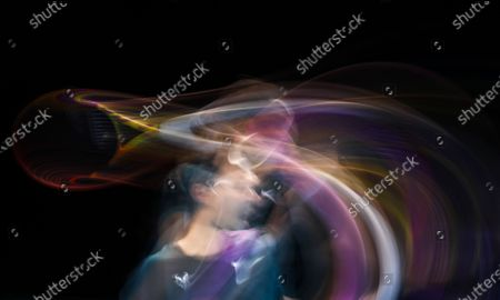 Rafael Nadal of Spain competes during the singles group match against Stefanos Tsitsipas of Greece at the ATP World Tour Finals 2020 in London, Britain, on Nov. 19, 2020.