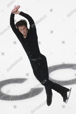 Stock Picture of Alexander Lebedev of Belarus performs during the men's Short Program at the 2020 Rostelecom Cup Russia ISU Grand Prix of Figure Skating in Moscow, Russia, 20 November 2020.