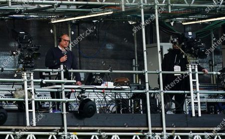Stock Image of BBC Sport Football Commentator Steve Wilson