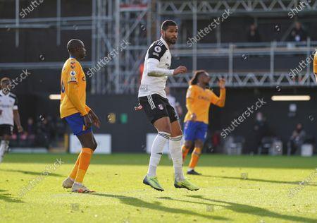 Ruben Loftus-Cheek of Fulham celebrates scoring to make the score 2-3
