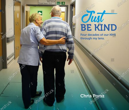 Picture shows the cover paramedic photographer Chris Porsz's book called Just Be Kind. A paramedic has spent more than 40 years photographing the changing face of the NHS - and published his pictures in a new book. Amateur photographer Chris Porsz, 67, spent many of his days off over the last four decades accompanying colleagues to capture the patient's journey from the 999 call to the hospital. He has taken hundreds of pictures of doctors, nurses, patients and wards at three hospitals in Peterborough, Cambridgeshire and now produced a book, Just Be Kind, with part proceeds going to Breast Cancer Research.Chris took dozens of photos over the years, whilst working as a porter and later a paramedic, and his pictures offer a unique behind-the-scenes view of the NHS from the 1980s, with nurses neatly dressed in blue gingham and frilly hats, to the present with masked doctors dealing with the coronavirus pandemic.