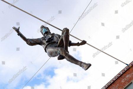 Editorial photo of Balancing sculpture in Czestochowa, Poland - 20 Nov 2020