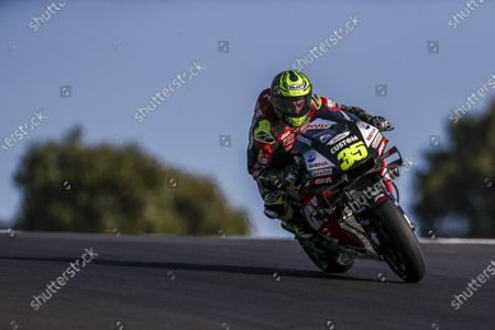 British rider Cal Crutchlow of LCR Honda Team during the second free training session of the Motorcycling Grand Prix of Portugal at Algarve International race track, Portugal, 20 November 2020. The Motorcycling Grand Prix of Portugal will take place on 22 November 2020.