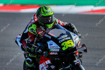 British MotoGP rider Cal Crutchlow of the LCR Honda Castrol team in action during the first free practice session of the Motorcycling Grand Prix of Portugal at Algarve International race track near Portimao, Portugal, 20 November 2020. The Motorcycling Grand Prix of Portugal will take place on 22 November 2020.