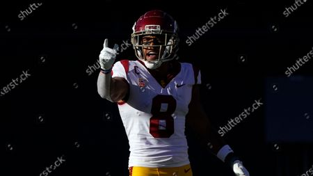 Southern California cornerback Chris Steele (8) during an NCAA college football game against Arizona, in Tucson, Ariz