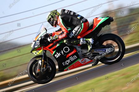 ALGARVE INTERNATIONAL CIRCUIT, PORTUGAL - NOVEMBER 20: Aleix Espargaro, Aprilia Racing Team Gresini during the Portuguese GP at Algarve International Circuit on November 20, 2020 in Algarve International Circuit, Portugal. (Photo by Gold and Goose / LAT Images)